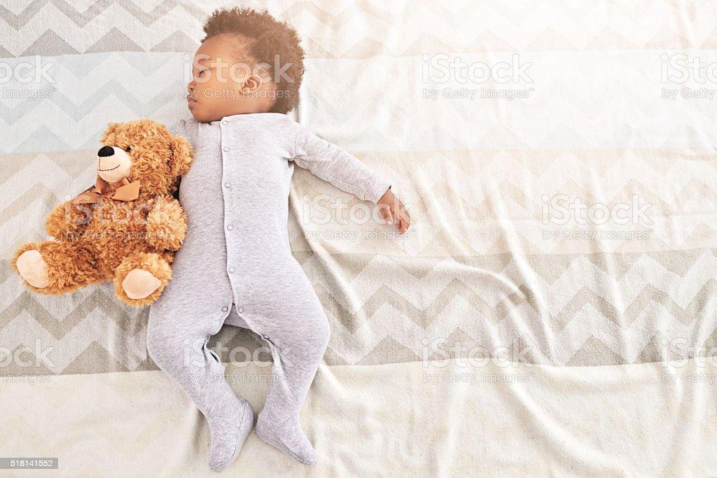 Little boy, big dreamer stock photo