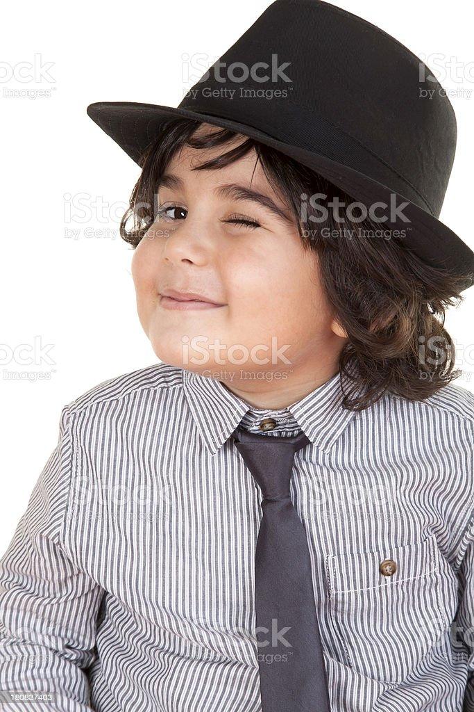 little boy blinking royalty-free stock photo