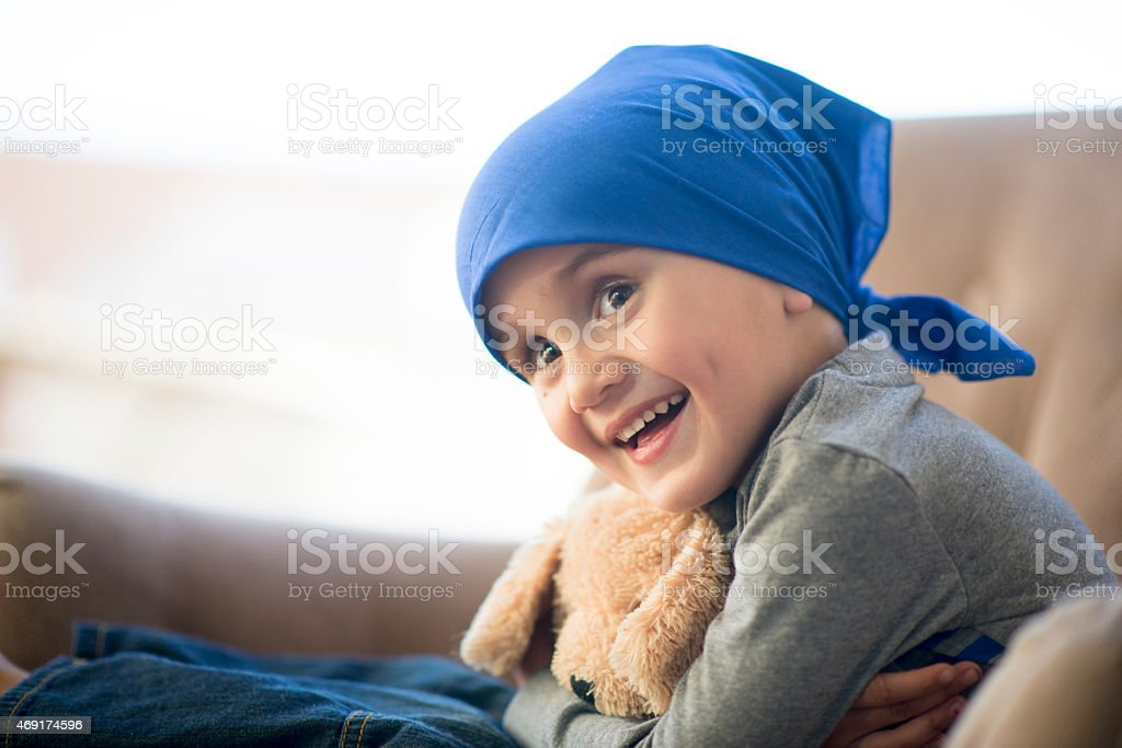 Little Boy Chemotherapy stock photo