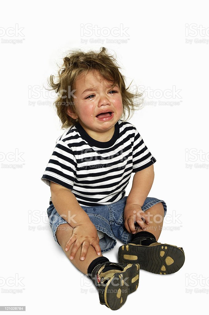 Little boy crying royalty-free stock photo