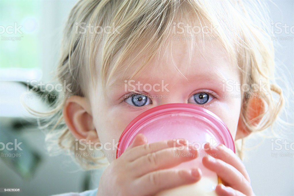 Little Boy Drinking royalty-free stock photo