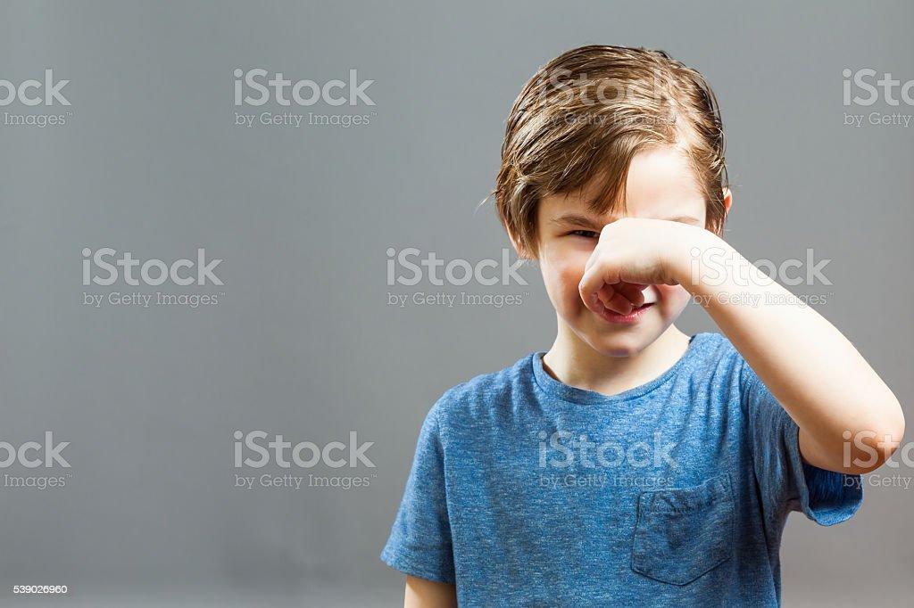Little Boy Expressions - Somethig Stinks stock photo
