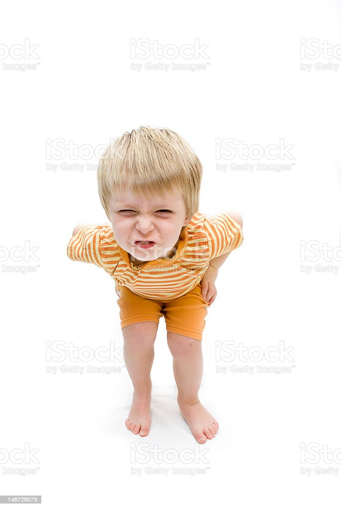 little boy having a tantrum royalty-free stock photo
