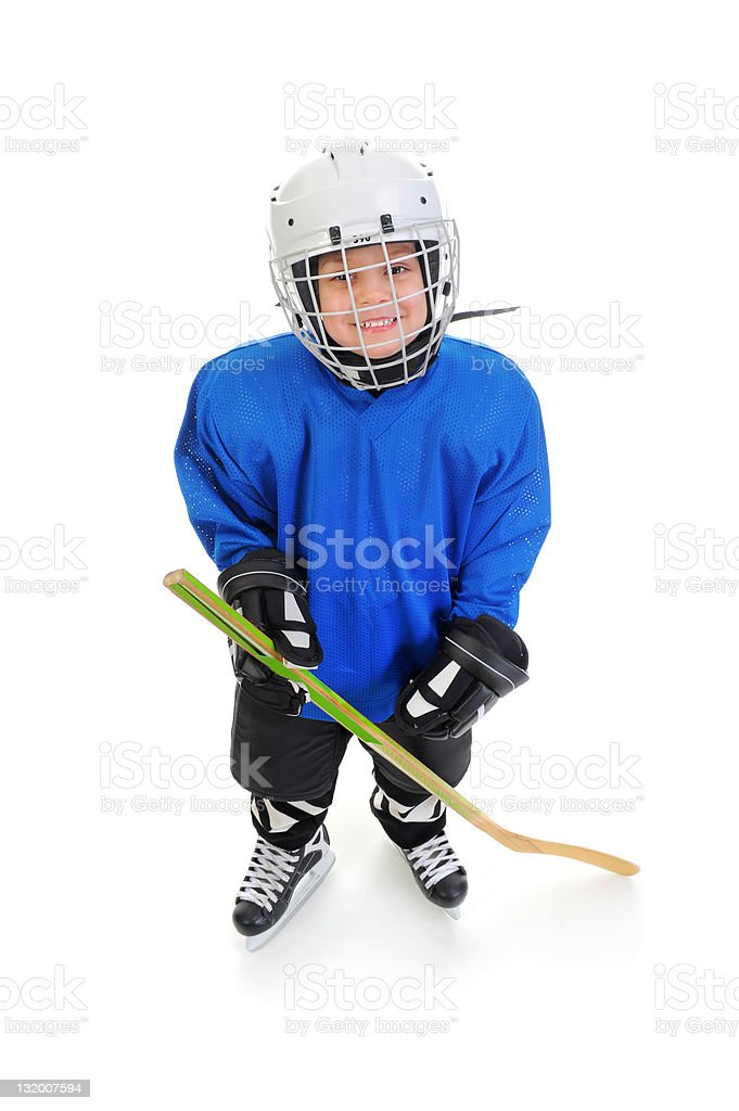 Little Boy Hockey Player stock photo