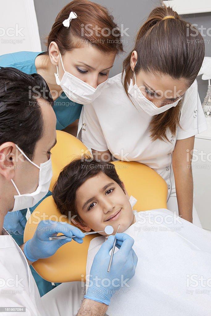 Little boy in dentist office royalty-free stock photo