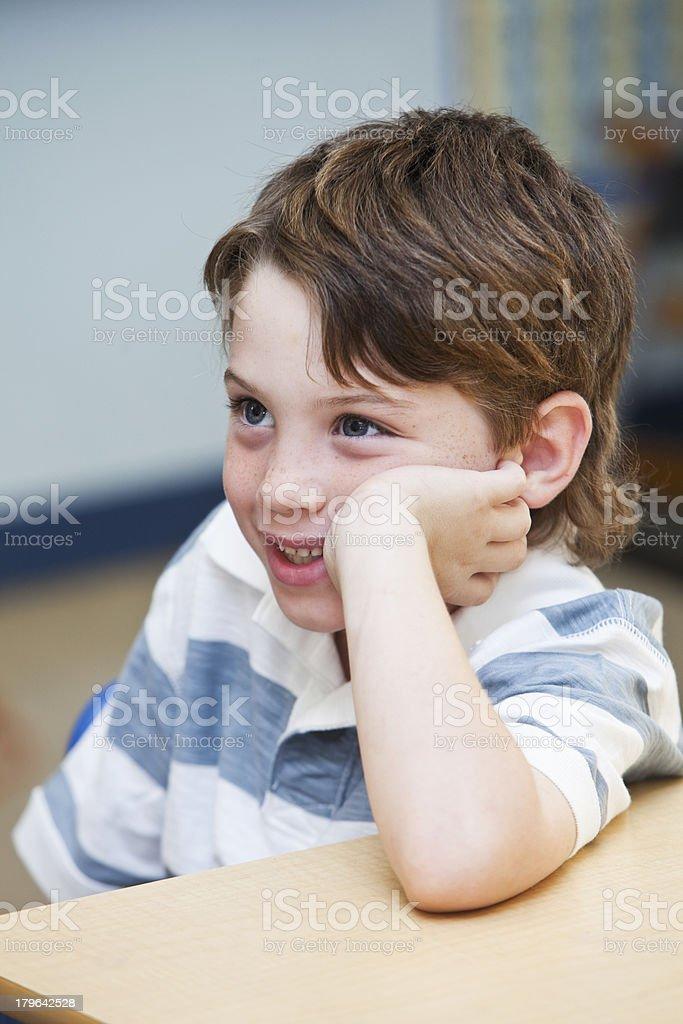 Little boy in school royalty-free stock photo