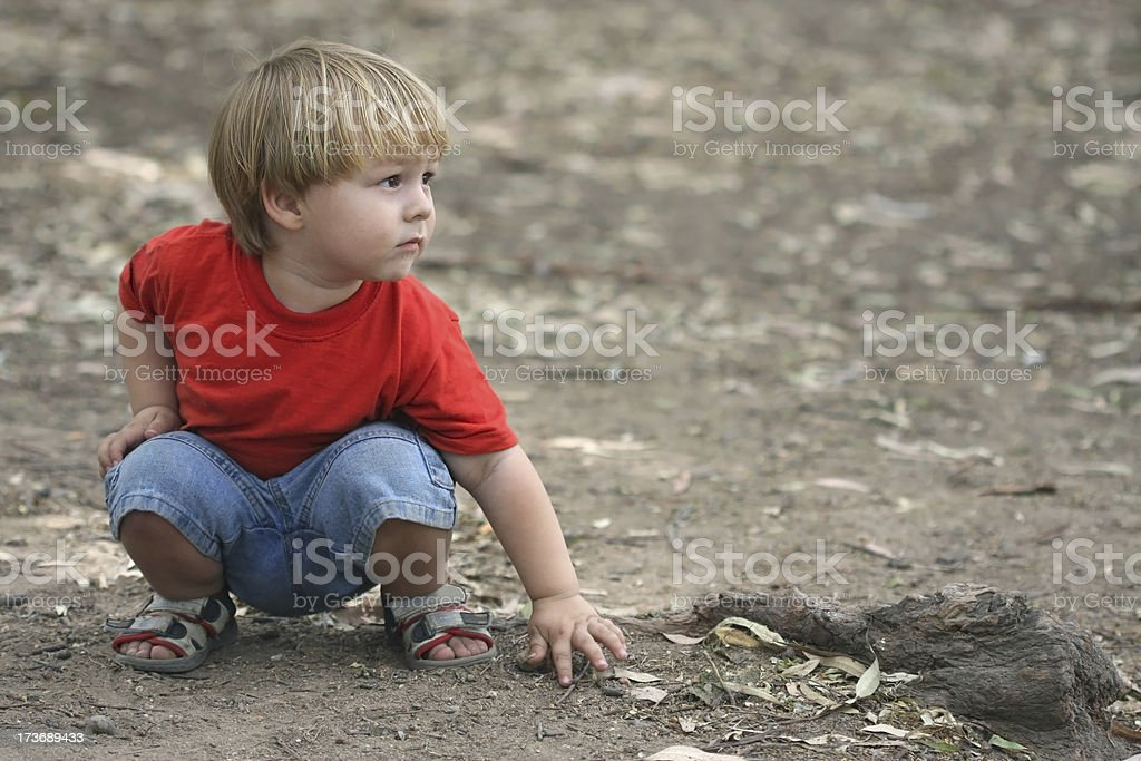 Little Boy in the Countryside royalty-free stock photo