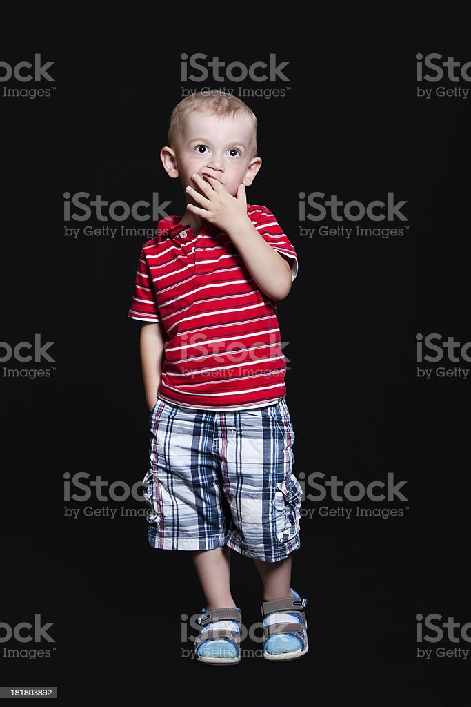 Little boy in the studio royalty-free stock photo