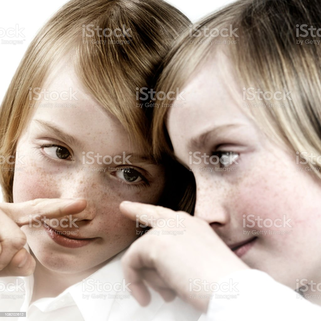 Little Boy Looking at His Reflection royalty-free stock photo