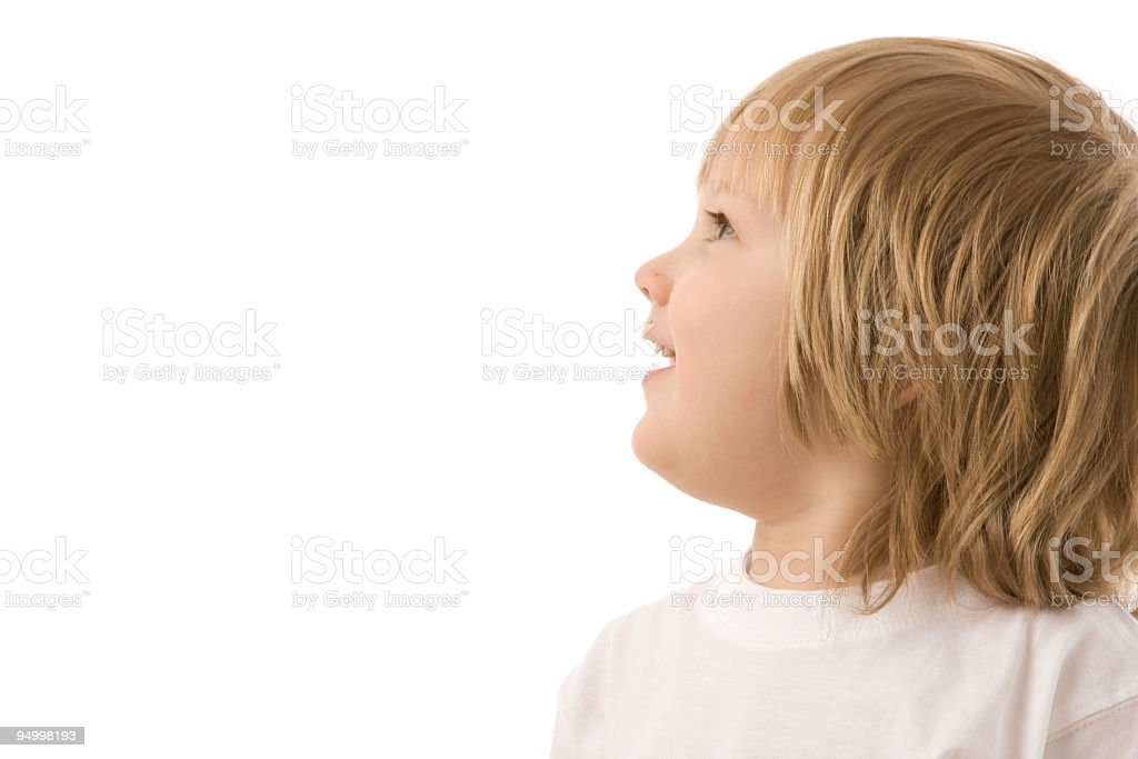 Little boy looking at something royalty-free stock photo