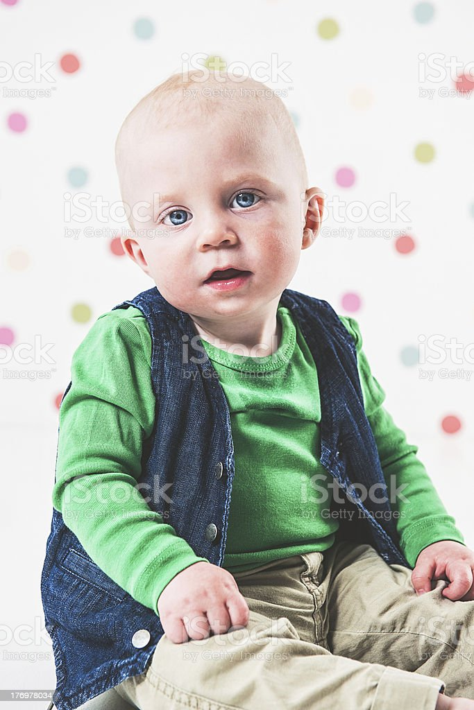Little boy looking into camera royalty-free stock photo