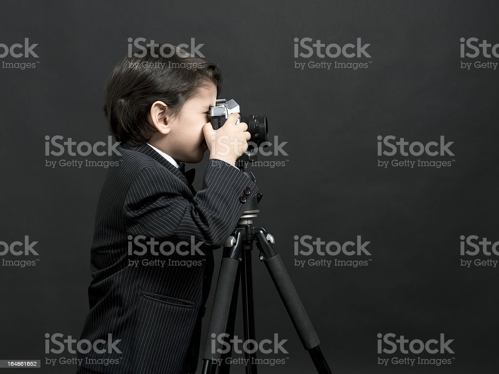 Little boy photographer royalty-free stock photo