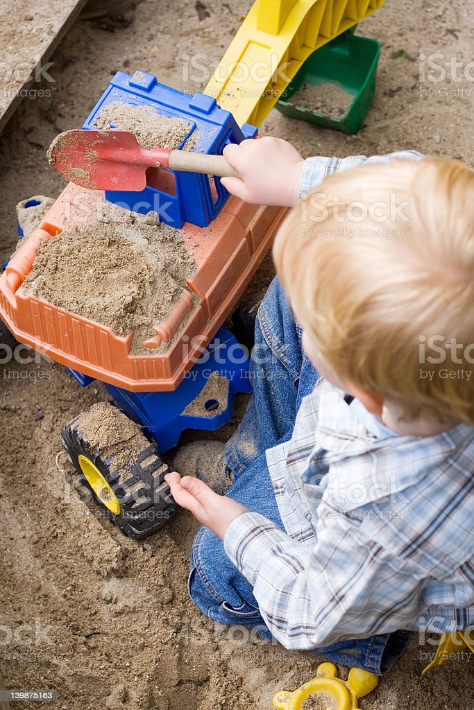 Little Boy Playing stock photo
