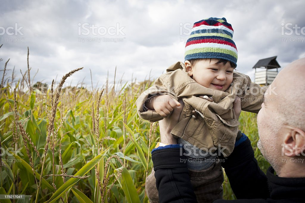 Little boy Playing with dad royalty-free stock photo