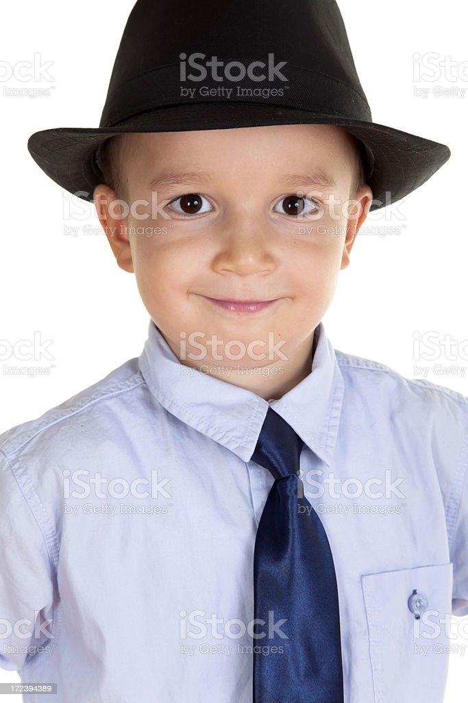 little boy posing camera royalty-free stock photo