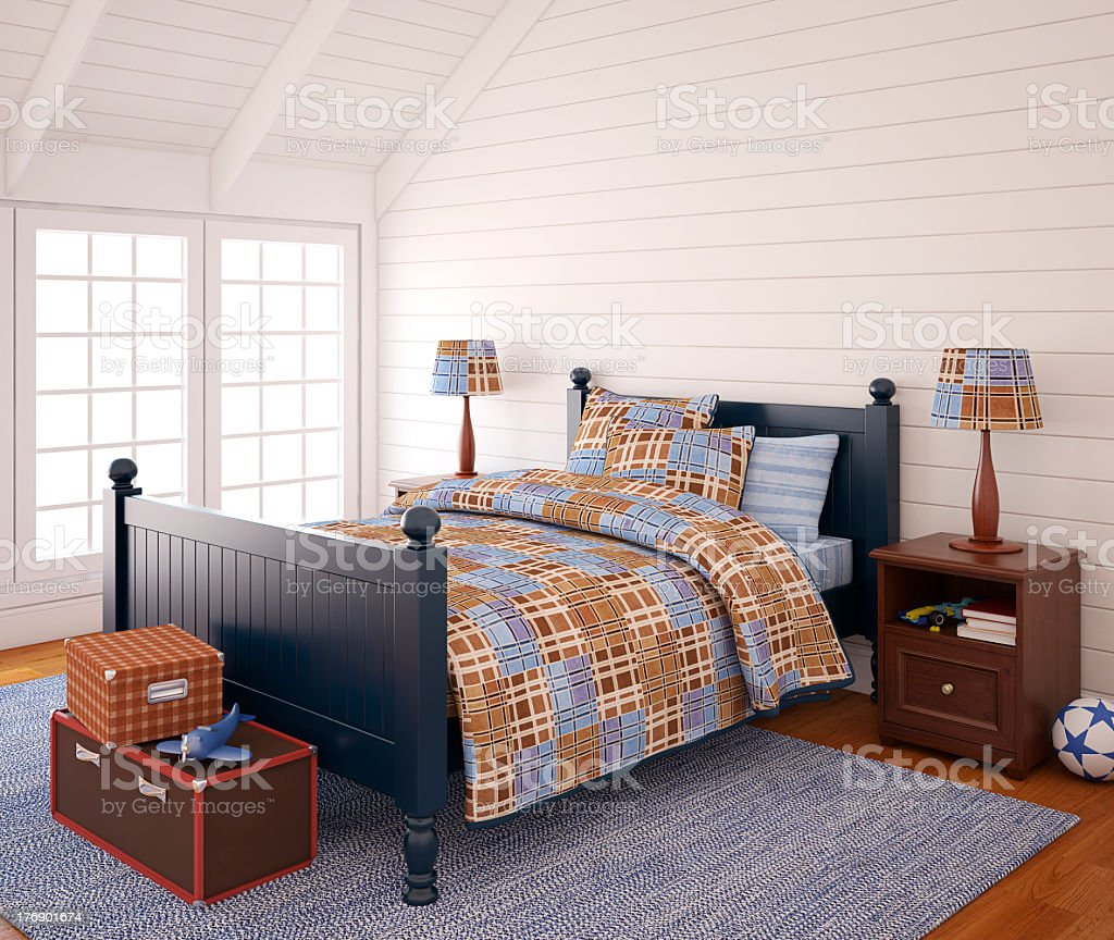 Little boy room with natural light royalty-free stock photo
