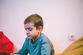 Little boy sitting