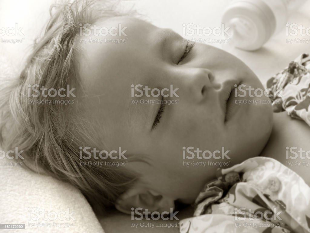 Little Boy Sleeping stock photo