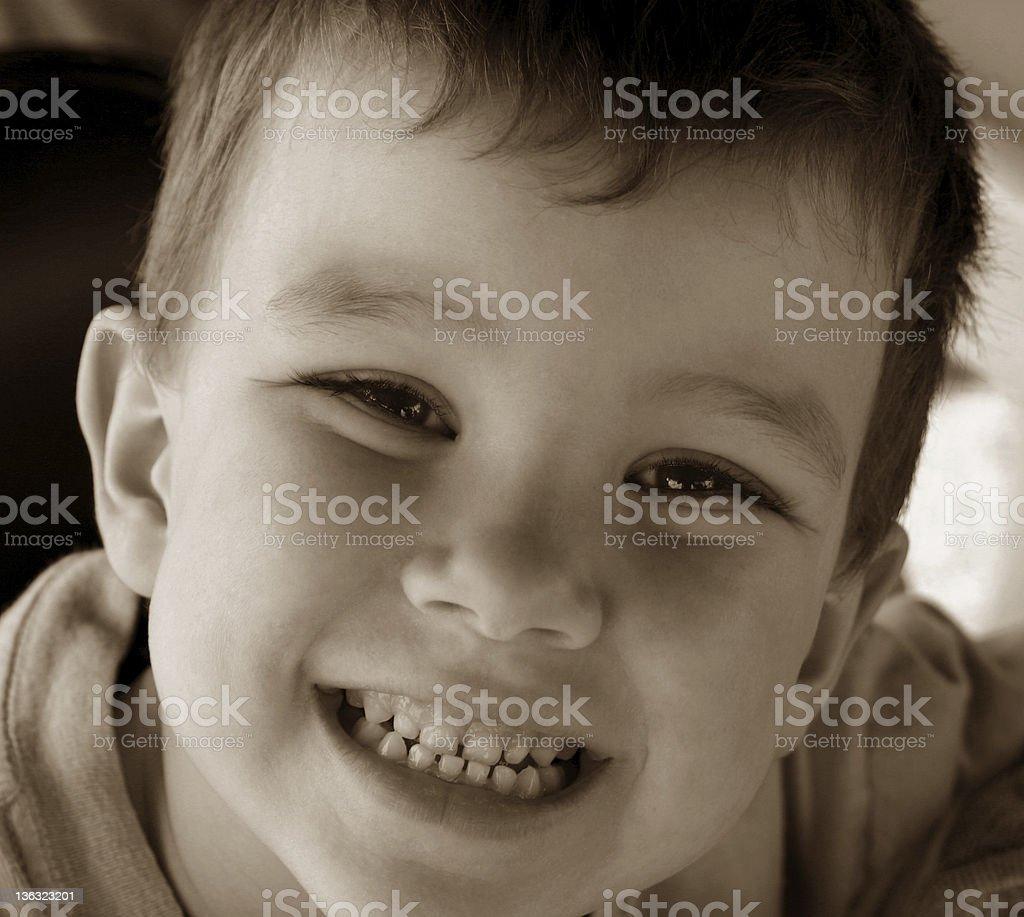 Little boy smiling stock photo