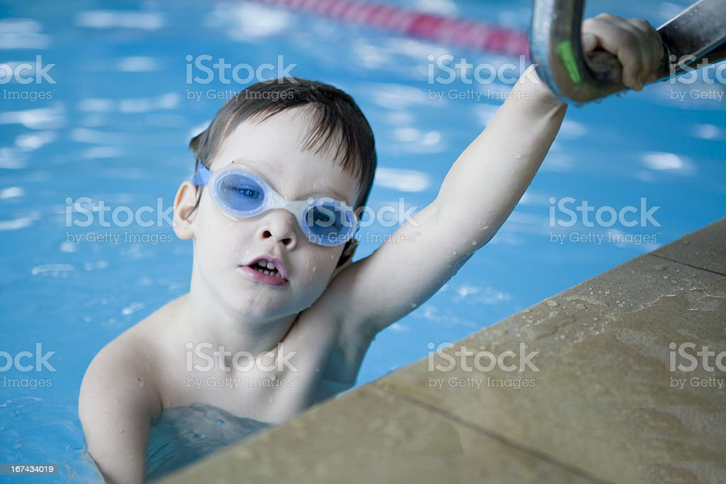 Little boy swimmer royalty-free stock photo