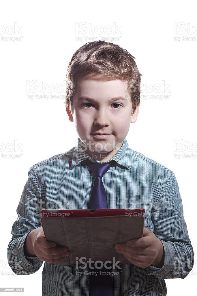 Little Boy Using Digital Tablet royalty-free stock photo