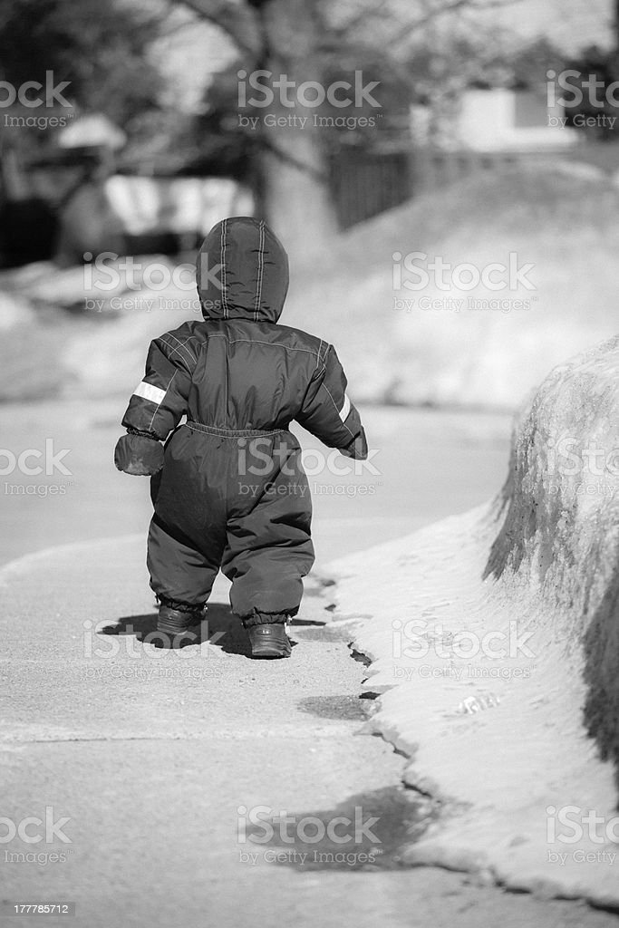 little boy walking royalty-free stock photo