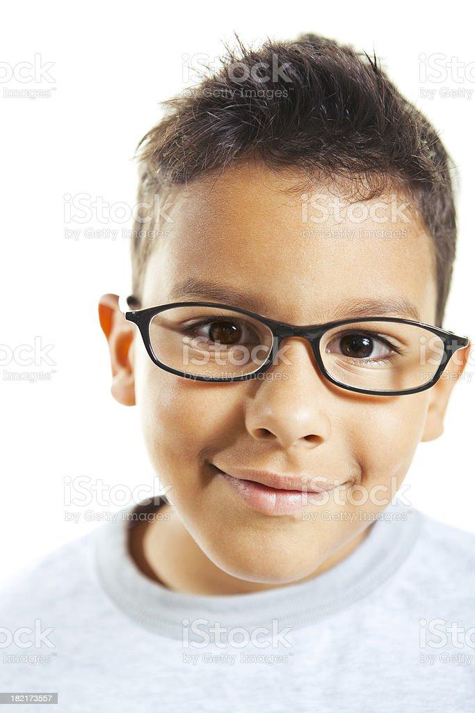 little boy wearing eyeglasses royalty-free stock photo