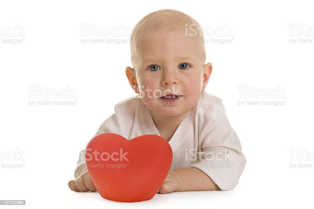 Little boy with a heart royalty-free stock photo