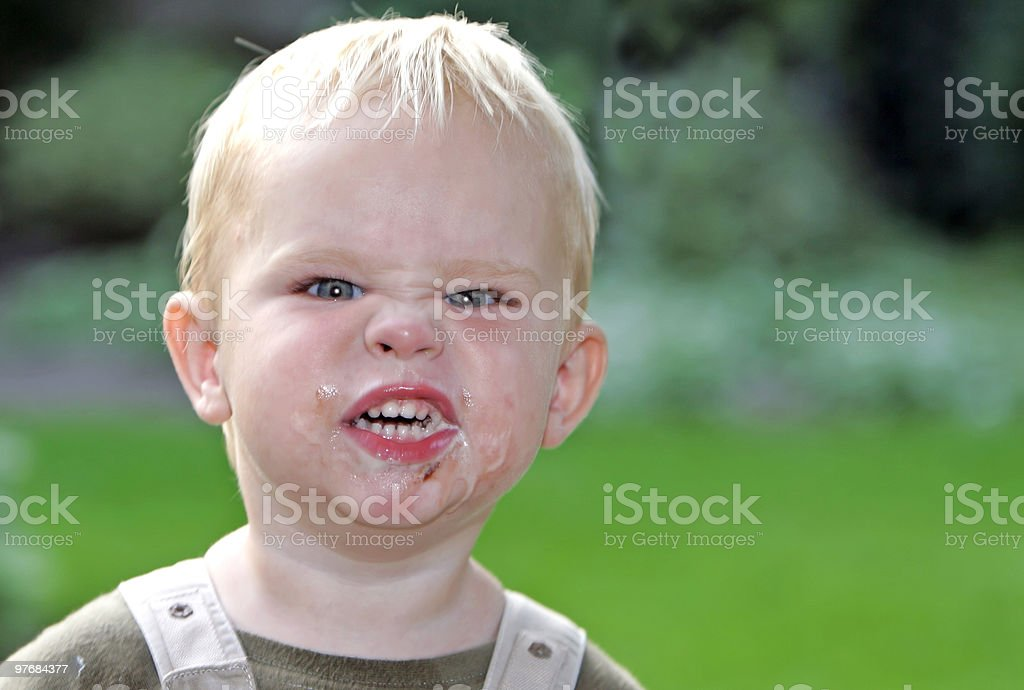 little boy with angry face royalty-free stock photo