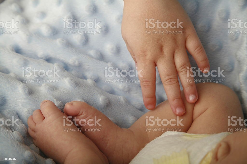 little boy with baby royalty-free stock photo