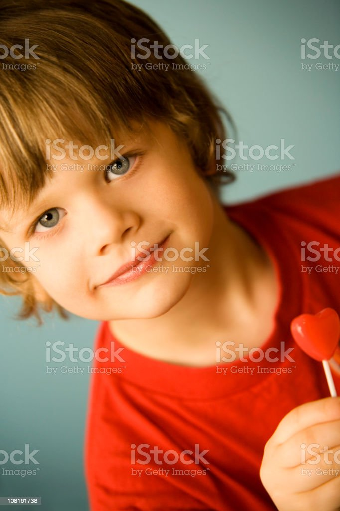 Little Boy with Candy stock photo