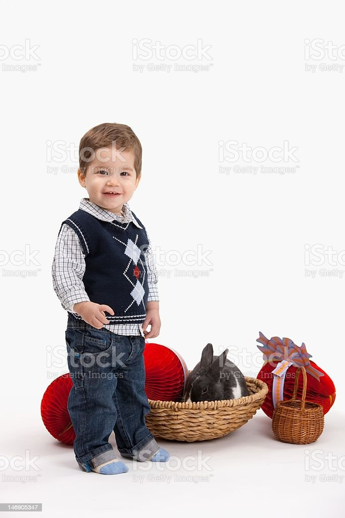 Little boy with Easter decoration royalty-free stock photo