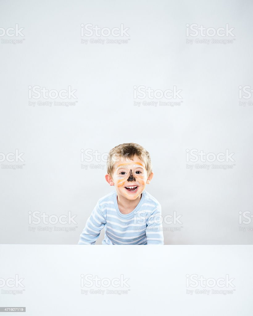 Little boy with Face Paint stock photo