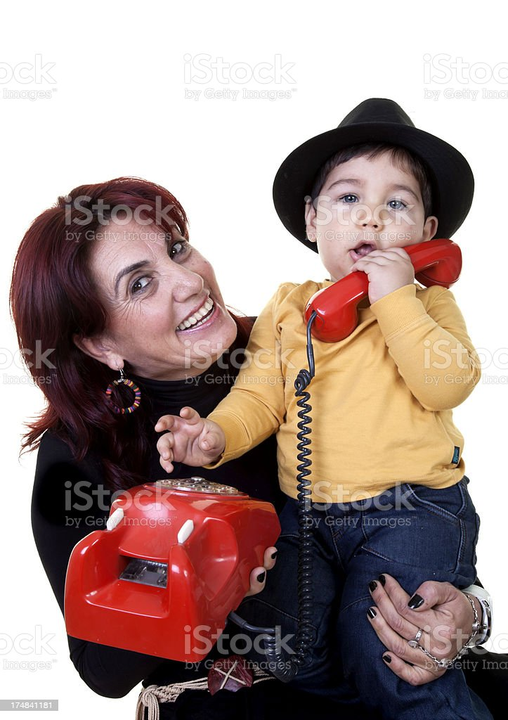 little boy with grandmother royalty-free stock photo