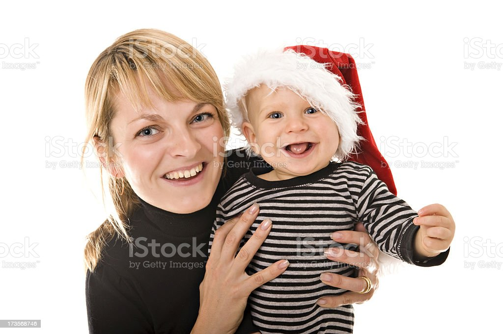 Little boy with his mother royalty-free stock photo