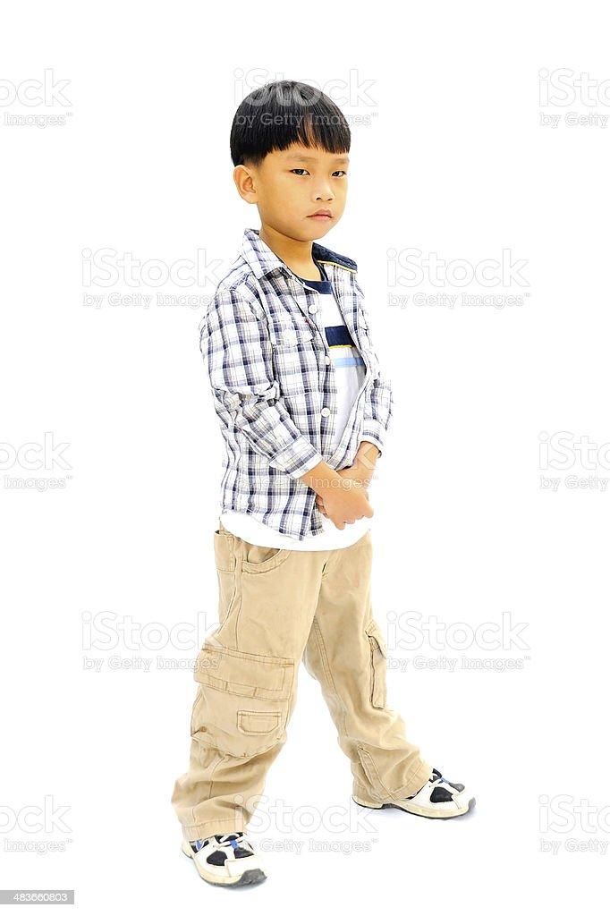 Mały chłopiec z puste zbiór zdjęć royalty-free