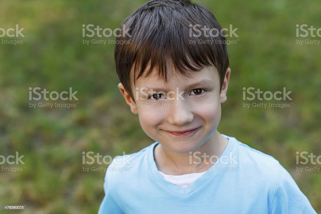 Little boy with smiley face royalty-free stock photo