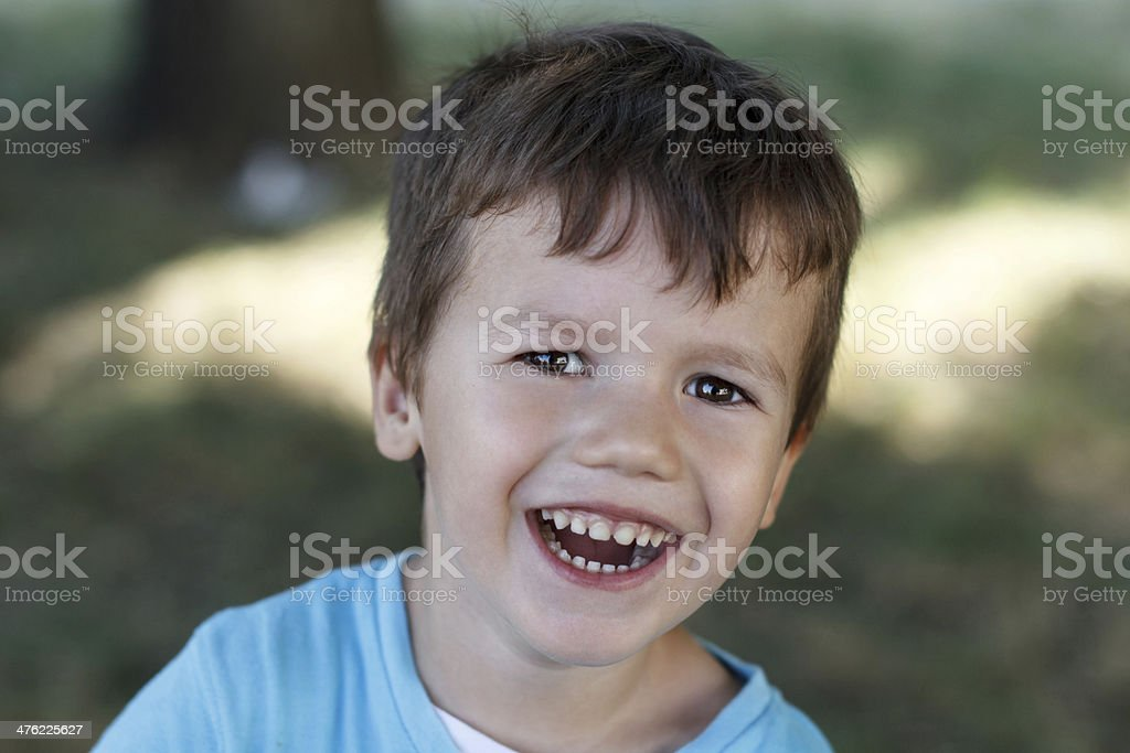 Little boy with teeth smile royalty-free stock photo