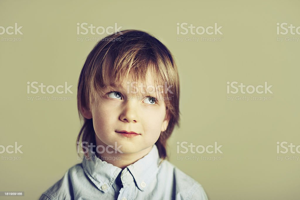 Little Boy's Thoughts royalty-free stock photo