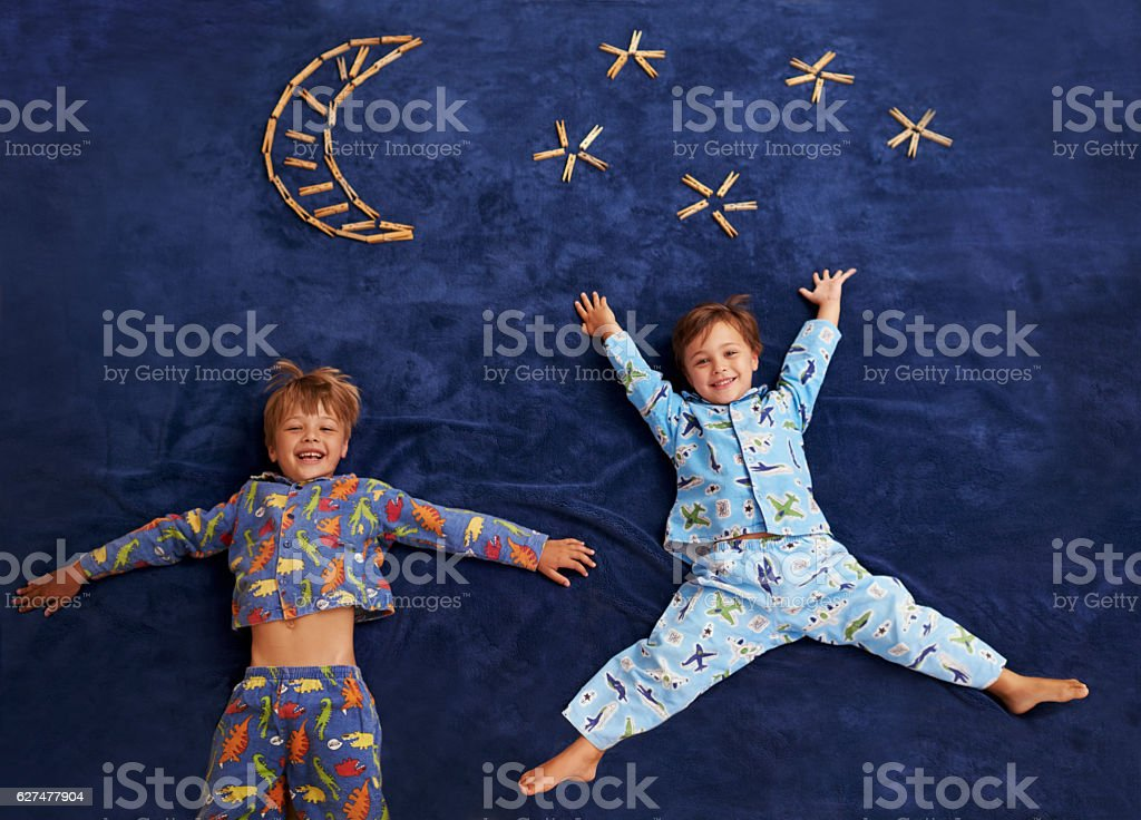 Little boys with big dreams stock photo