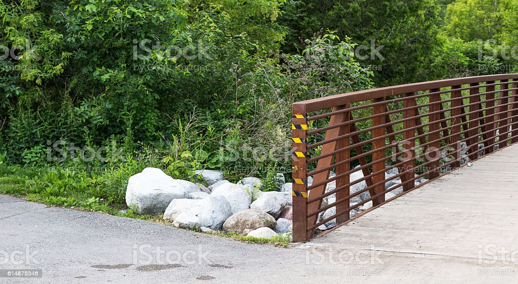 Little bridge over a small stream. royalty-free stock photo