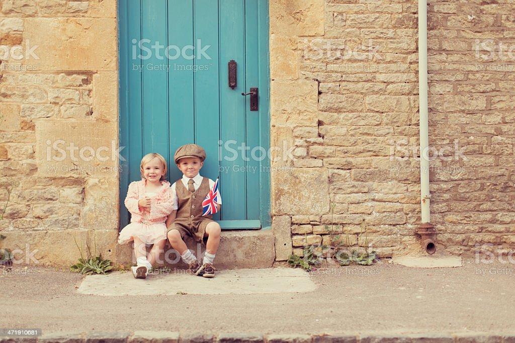 Little British Couple stock photo