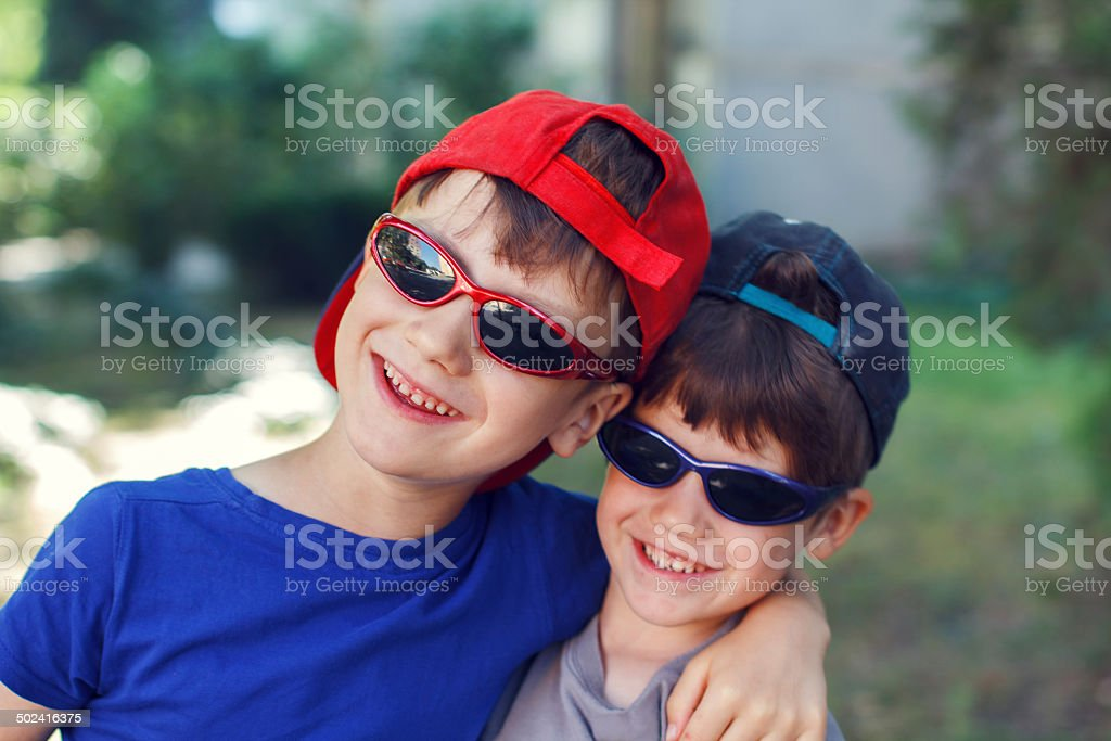 Little brothers royalty-free stock photo