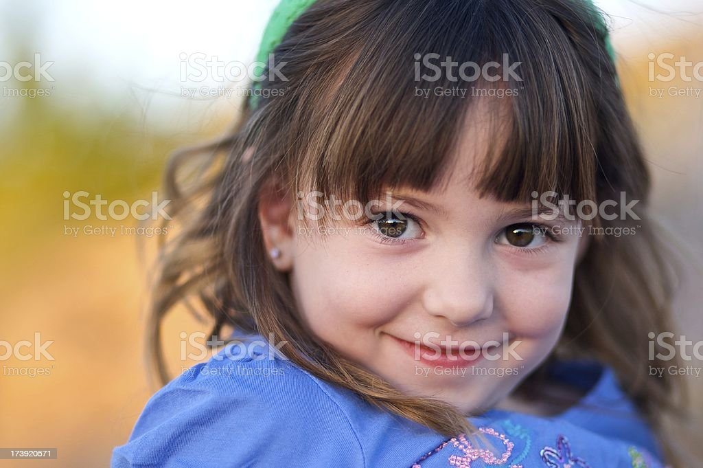 Little Brown Eyed Girl royalty-free stock photo