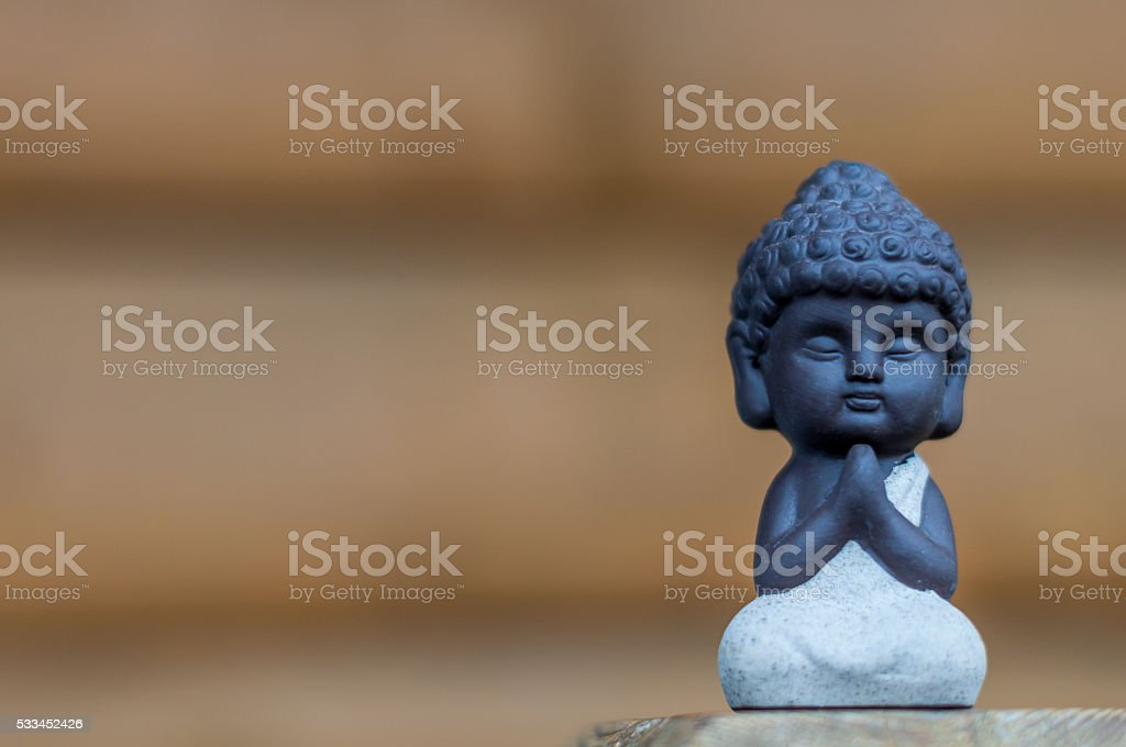 Little Buddha statue image used as amulets of Buddhism religion stock photo