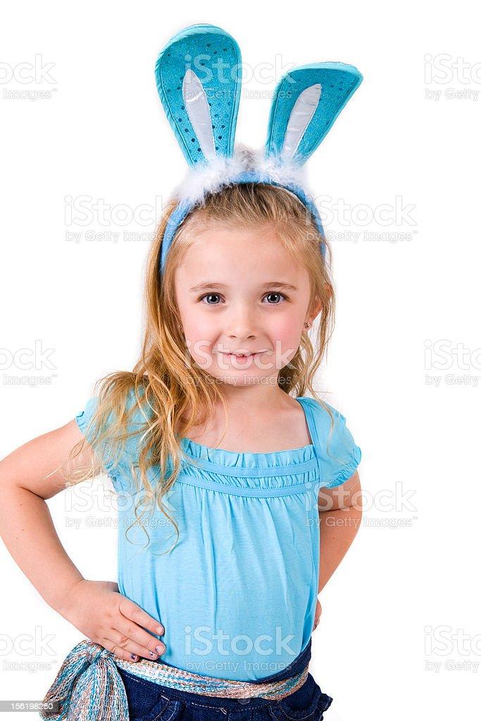 Little Bunny Girl royalty-free stock photo