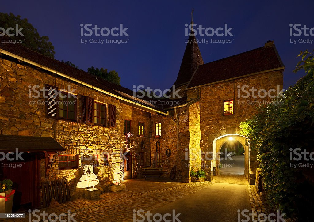 Little Castle At Night royalty-free stock photo