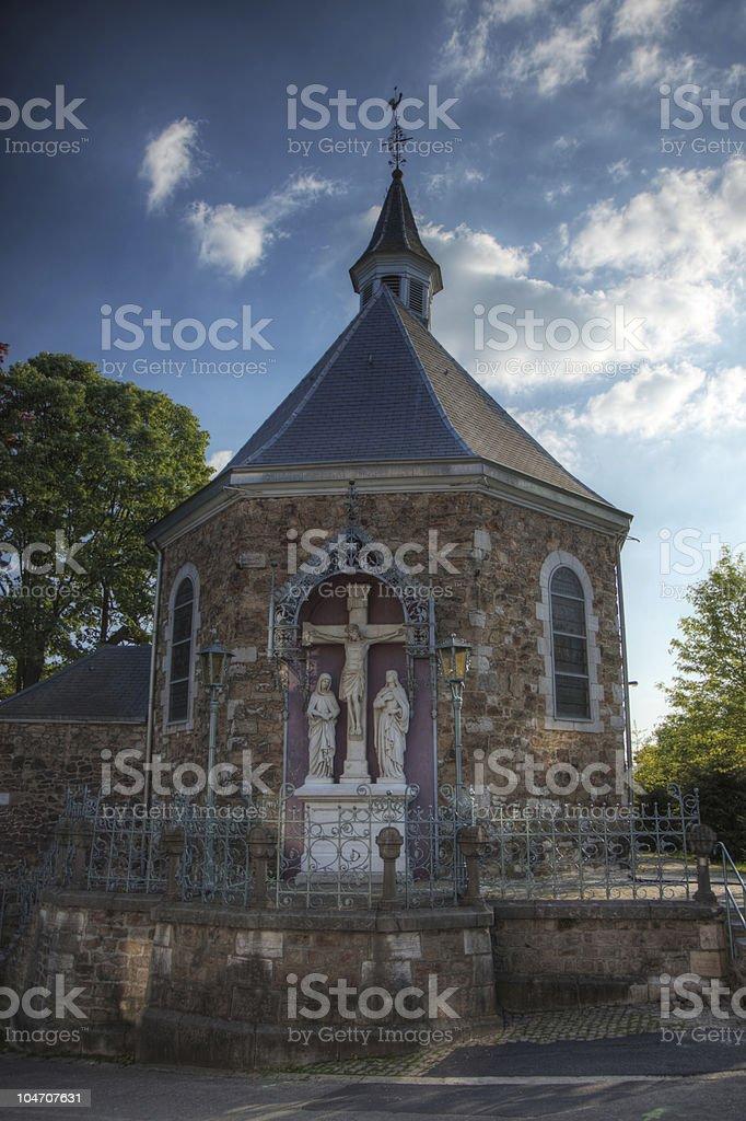 Little chapel in Eupen stock photo