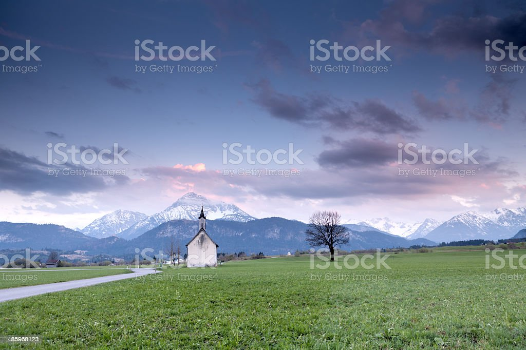 little chapel - Kapelle in Lechaschau stock photo