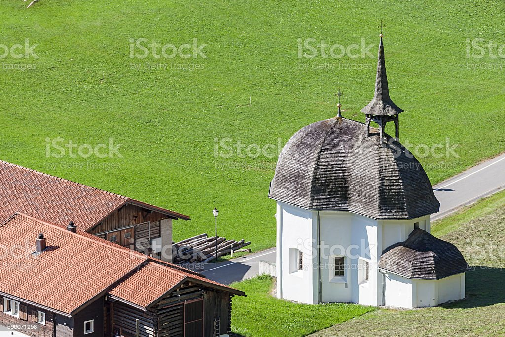Little chapel stock photo